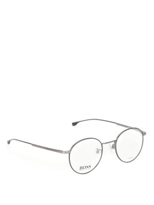 Hugo Boss: glasses - Ultralight ruthenium round glasses