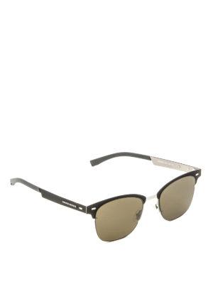 Hugo Boss: sunglasses - Black metal and fabric sunglasses