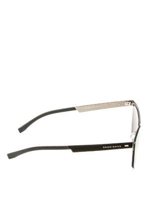 Hugo Boss: sunglasses online - Black metal and fabric sunglasses