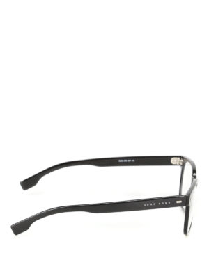 Hugo Boss: sunglasses online - Squared lenses black frame glasses