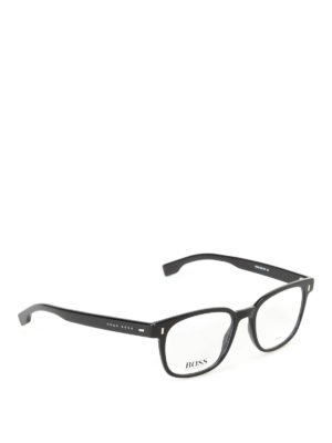 Hugo Boss: sunglasses - Squared lenses black frame glasses