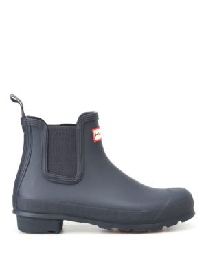 Hunter: ankle boots - Natural navy rubber Chelsea boots