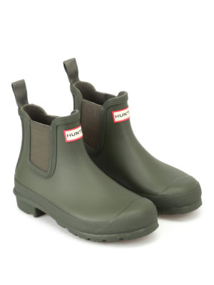 Hunter: ankle boots online - Natural green rubber Chelsea boots