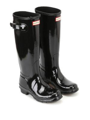 Hunter: boots online - Tall Gloss black rubber boots