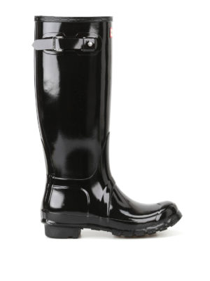 Hunter: boots - Tall Gloss black rubber boots