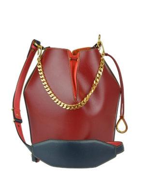 iKRIX ALEXANDER MCQUEEN: Secchielli - Bauletto Bucket Bag in pelle colour block