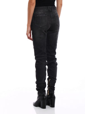iKRIX Balmain: straight leg jeans - Faded denim biker jeans