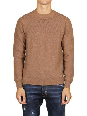iKRIX DSQUARED2: maglia collo rotondo - Pull girocollo in lana color cammello