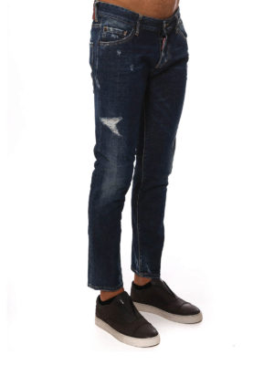 iKRIX Dsquared2: skinny jeans - LOW RISE DISTRESSED JEANS