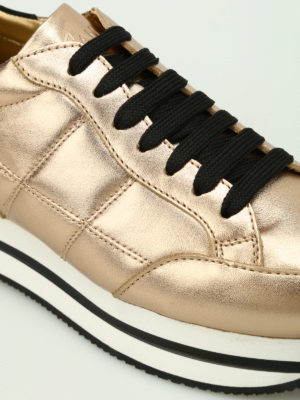 iKRIX Hogan: trainers - H222 gold-tone leather sneakers