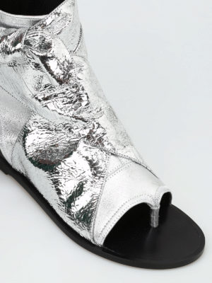 iKRIX Isabel Marant: sandals - Mosley metallic lambskin sandals