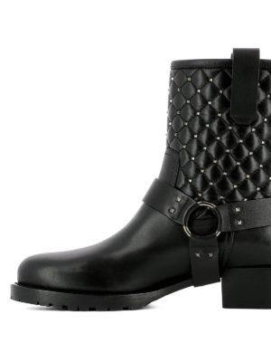 iKRIX Valentino: ankle boots - Spike Rockstuds biker boots