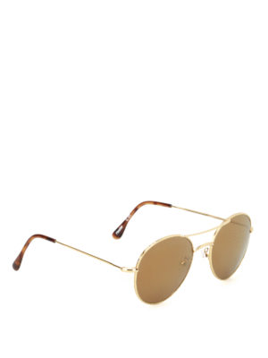 Illesteva: sunglasses - Hester gold-tone metal sunglasses
