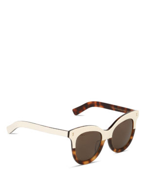 Illesteva: sunglasses - Holly two-tone sunglasses