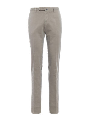 Incotex: casual trousers - Comfort cotton slim fit chinos