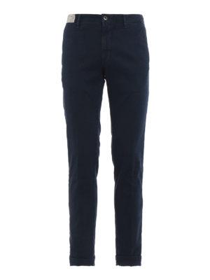 INCOTEX: pantaloni casual - Pantaloni blu scuro