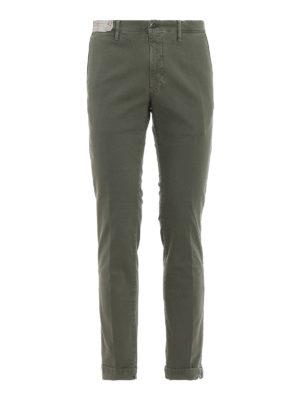 INCOTEX: pantaloni casual - Pantaloni Slacks verdi
