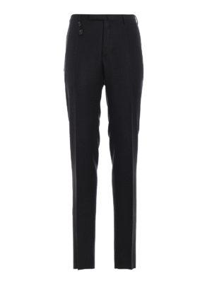 INCOTEX: pantaloni casual - Pantaloni in lana vergine grigi