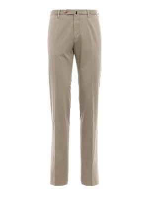 Incotex: casual trousers - High Comfort beige cotton trousers