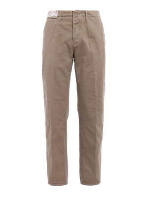 Incotex: casual trousers - Jacquard cotton chino trousers