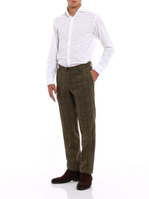 Incotex: casual trousers online - Check print wool chinos