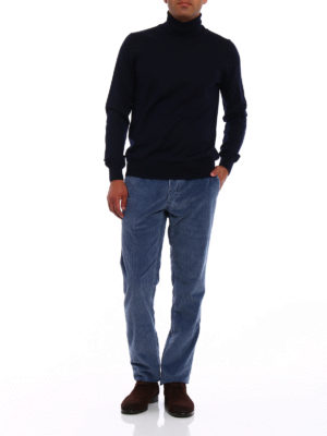 Incotex: casual trousers online - Corduroy slim fit chino trousers