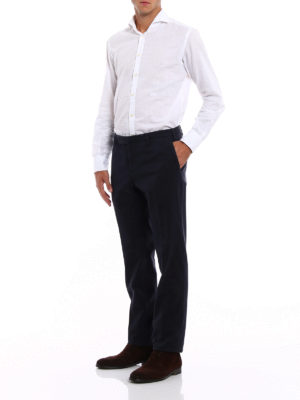 Incotex: casual trousers online - Cotton slim fit comfort chino