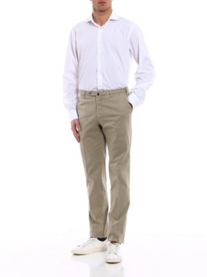 Incotex: casual trousers online - High Comfort beige cotton trousers