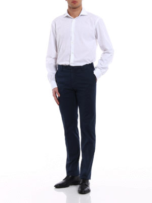 Incotex: casual trousers online - High Comfort blue cotton trousers