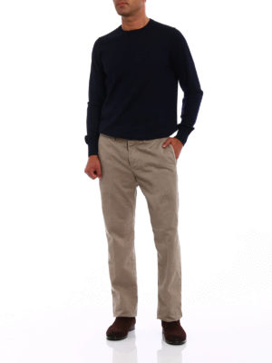 Incotex: casual trousers online - Jacquard cotton chino trousers