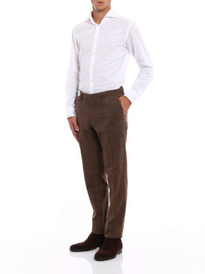 Incotex: casual trousers online - Jacquard cotton chinos