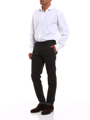Incotex: casual trousers online - Prince of Wales cotton chinos