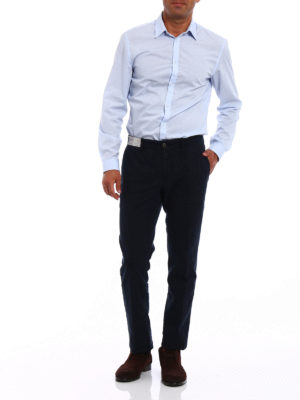 Incotex: casual trousers online - Prince of Wales print cotton chinos