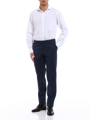 Incotex: casual trousers online - Royal Batavia blue cotton trousers