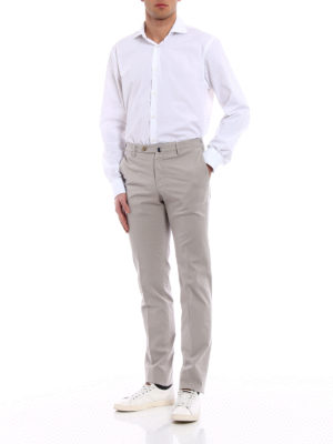 Incotex: casual trousers online - Royal Batavia grey cotton trousers