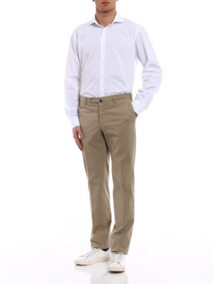 Incotex: casual trousers online - Royal Batavia khaki cotton trousers