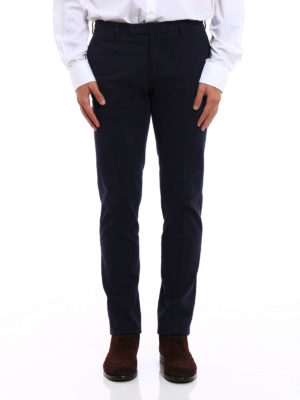 Incotex: casual trousers online - Sateen cotton slim trousers
