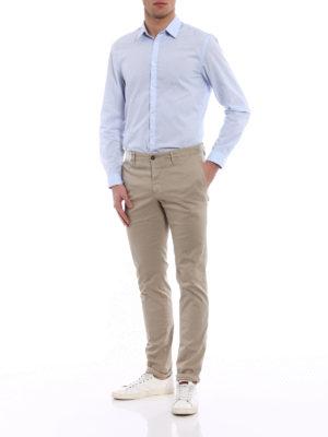 Incotex: casual trousers online - Slacks beige cotton trousers