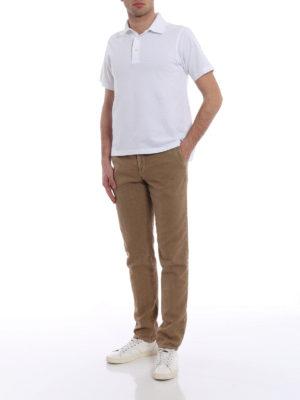 Incotex: casual trousers online - Slacks beige linen blend trousers