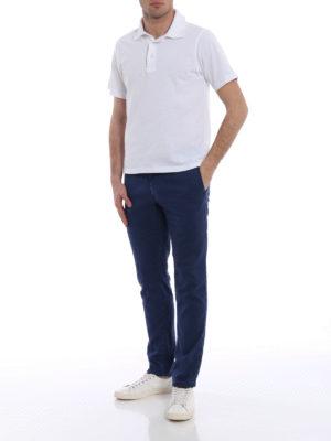 Incotex: casual trousers online - Slacks blue linen blend trousers