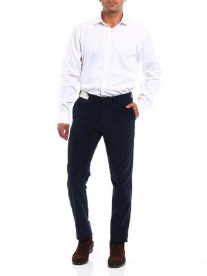 Incotex: casual trousers online - Slacks corduroy slim fit trousers