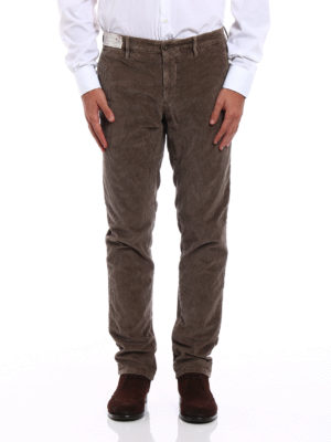 Incotex: casual trousers online - Slacks corduroy trousers