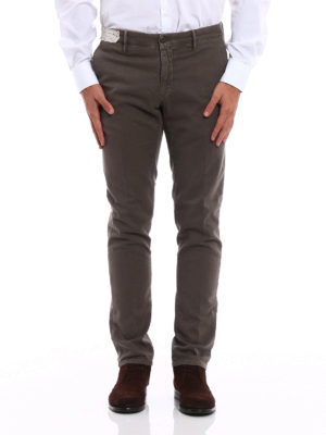 Incotex: casual trousers online - Slacks cotton slim fit trousers