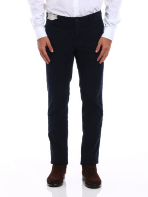 Incotex: casual trousers online - Slacks cotton twill slim trousers
