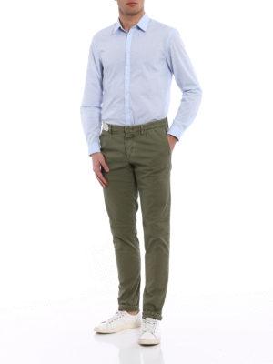Incotex: casual trousers online - Slacks green cotton trousers