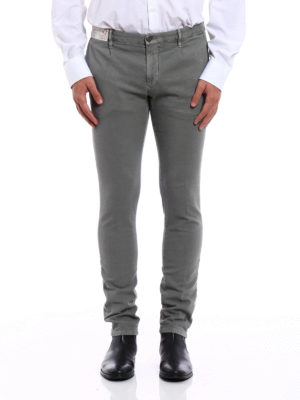 Incotex: casual trousers online - Slacks jacquard cotton trousers