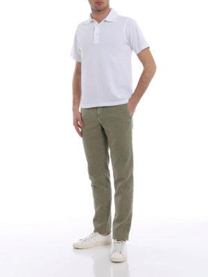 Incotex: casual trousers online - Slacks linen blend classic trousers