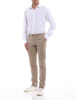 Incotex: casual trousers online - Slacks linen blend trousers