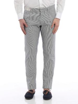 Incotex: casual trousers online - Slacks slim fit striped trousers