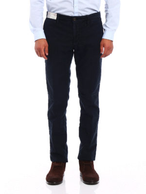 Incotex: casual trousers online - Slacks stretch cotton blue trousers